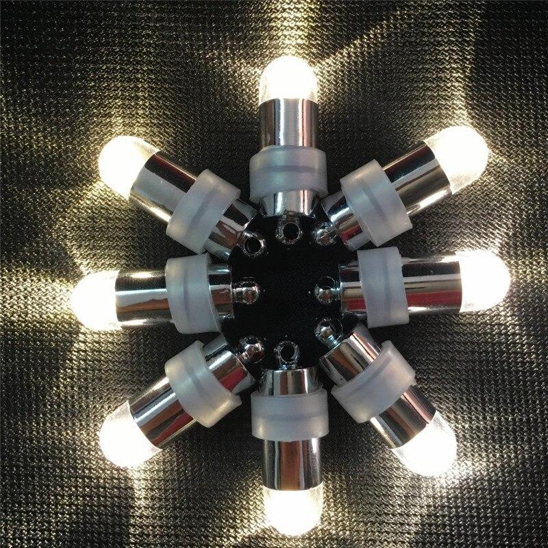 100 pcs/lot LED à piles ballon lumières + 100 pcs/lot papier lanternes de mariage décoration de fête - 4