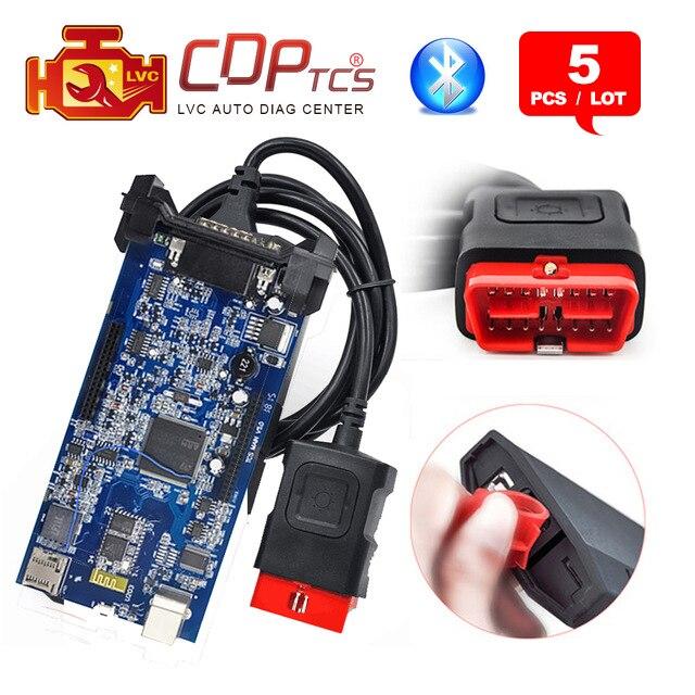 Цена за 5 шт./лот DHL Бесплатная CDP TCS Pro Plus Bluetooth 2015. R3 Keygen программное обеспечение obd 2 автомобили Грузовики OBD2 сканирования инструменту диагностики OBDII сканер