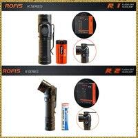 Rofis R1 16340 R2 14500 R3 18650 Mini Flashlight CREE LED Adjustable Head Flashlight Magnetic USB