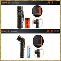 Rofis R1 16340 / R2 14500 / R3 18650 Mini Flashlight CREE LED Adjustable head Flashlight Magnetic USB Torch Adjustable Head