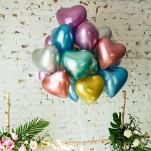 Decoration Balloons Festival 12 Popular Metallic Latex Balloon Heart Shaped Celebration Wedding Birthday Party 10Pcs D20