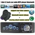 4.1 дюймов 1 Din для камеры заднего вида bluetooth TFT MP5 MP4 Плеер USB TF Ауксина Fm-радио руль Пульт Дистанционного Управления Автомобиль Аудио Стерео
