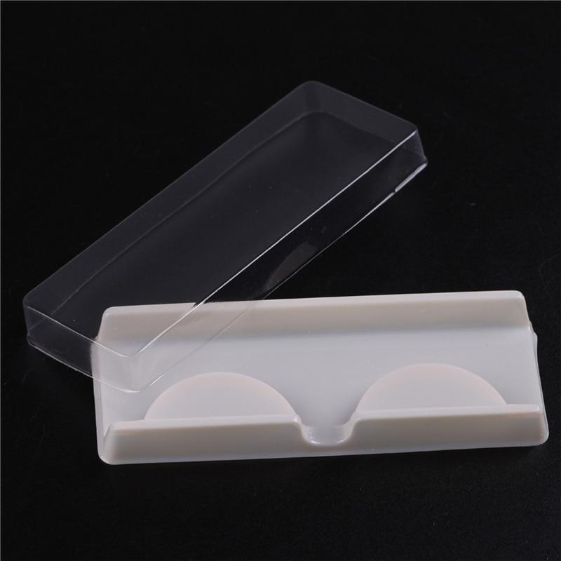 10 Sets/Lot False Eyelash Storage Packing Box Eyelash Boxes Transparent Empty Lash Case Reuseable Plastic Lash Storage