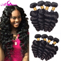 Indian Virgin Hair Loose Wave 4 Bundles Indian Loose Wave Hair 100% Unprocessed Virgin Indian loose Curly Hair Human Hair Weaves