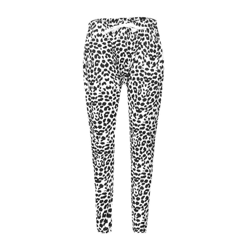 2018 New Arrivals White Leopard Pencil   Pants   Trousers Women Sweatpants Skinny Leggings Women   Pants     Capris   Joggers