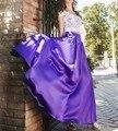 Otoño Largo Faldas Para Mujer Plus Tamaño de Alta Calidad de Satén de Color Rojo Sólido Piso-Longitud Una Línea de Fiesta de La Vendimia Maxi Faldas 2016