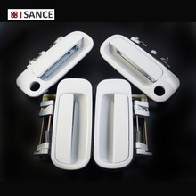 ISANCE White Outside Door Handle Front & Rear Right & Left 69230-33010 & 69240-33010 For Toyota Camry 1992 1993 1994 1995 1996(China)