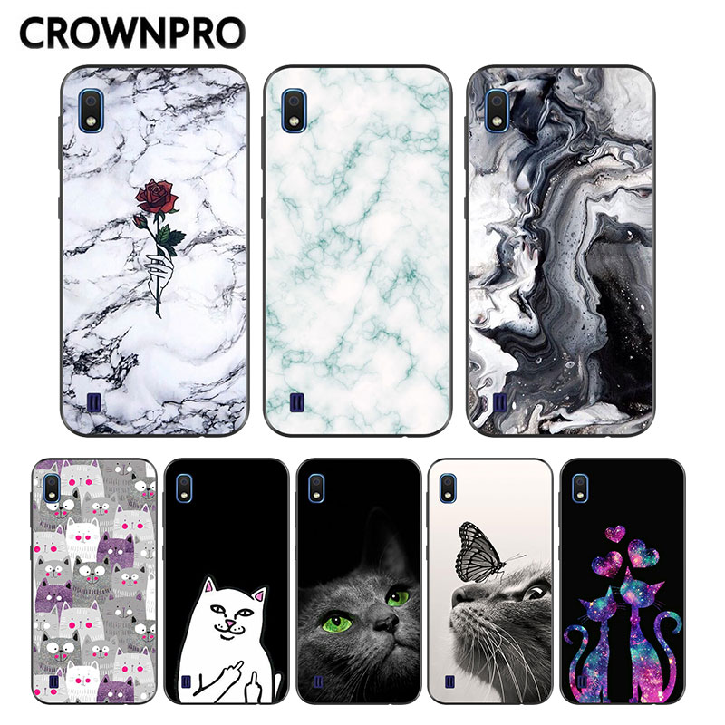 CROWNPRO FOR <font><b>Samsung</b></font> <font><b>A10</b></font> Case TPU Back Cover FOR <font><b>Coque</b></font> <font><b>Samsung</b></font> Galaxy <font><b>A10</b></font> Case Silicone Soft Bumper A 10 2019 Phone Case Marble image