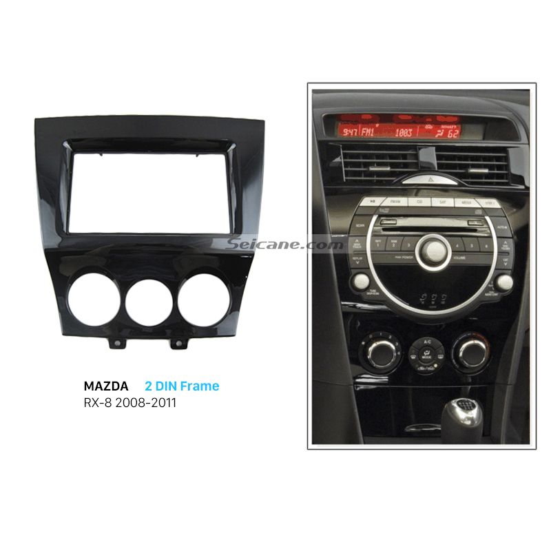 Seicane 2Din Install Trim Stereo Panel Kit Car Radio Fascia for 2011 Mazda RX8 Auto Audio DVD Player Dash Mounting Frame все цены