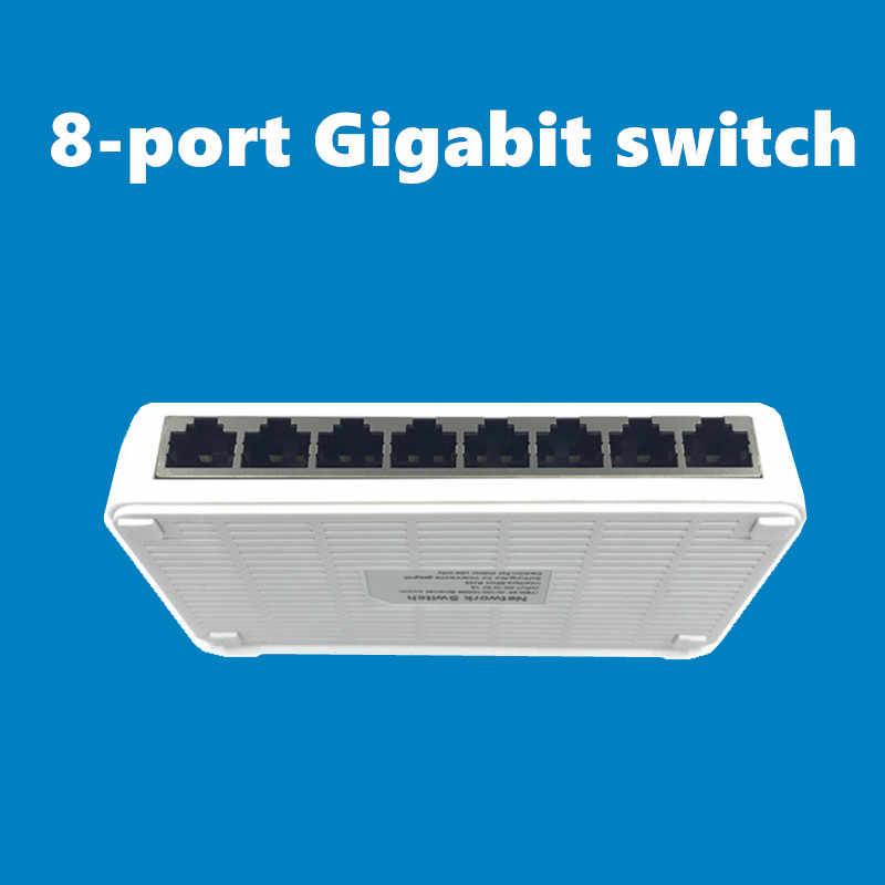 OEM 新モデル 8 ポートギガビットスイッチデスクトップ RJ45 イーサネットスイッチ 10/100/1000 mbps の lan ハブスイッチ 8 portas