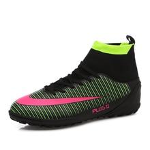 Nye voksne mænds fodboldstøvler Ankel Top Outdoor FG Sole Soccer Cleats Sports Futsal Soccer Sneakers High Ankle Men Football
