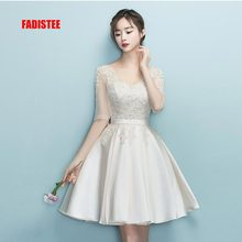 FADISTEE New design A line short dresses V neck cocktail party dress lace elagant simple lace up simple modern prom party frock