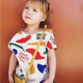 2016 Summer Kids Short Sleeve T-shirt Boys Girls Printed Tops Baby Clothes
