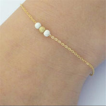 New simple good luck beads ladies bracelet classic personality stainless steel couple bracelet Valentine's day wedding bracelet(China)