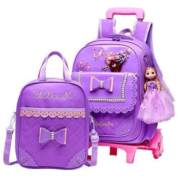 13a276517db Juego de mochilas escolares para niños con 2 6 ruedas
