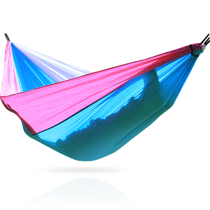 2018 nylon parachute cloth double hammock, light weight, easy to carry, comfortable sleep, easy to install and disassemble, 24 led music stand light 2 level change easy to carry foldable fl 9032