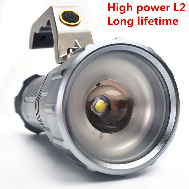 Rechargeable 4000LM Zoom XM-L L2 LED Flashlight Torch Light Zoomable 3Modes Waterproof lampe Torch Flash Lights For 3x18650