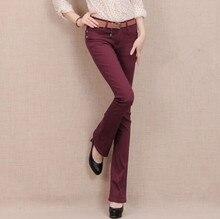 7 конфеты Цвет плюс размер джинсовые тощий ПР джинсы Конфеты цветные клеш женщин комбинезоны эластичные брюки карандаш D244