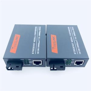 Image 4 - 3pairs HTB GS 03 Gigabit Fiber Optical Media Converter 10/100/1000Mbps  Single Mode Single Fiber SC Port mini Power Supply
