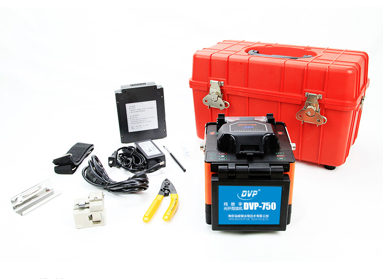Machine d'épissure de Fusion optique de Fiber numérique de DVP-750 pour la corde de correction de FTTx FTTH avec le couperet optique de Fiber