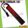 1 шт. 100% первоначально пламя 9.9 В 1000 mAh 15C LiFePO4 аккумулятор FLAME-POF4-05 AEG Airsoft аккумулятор M3E10T
