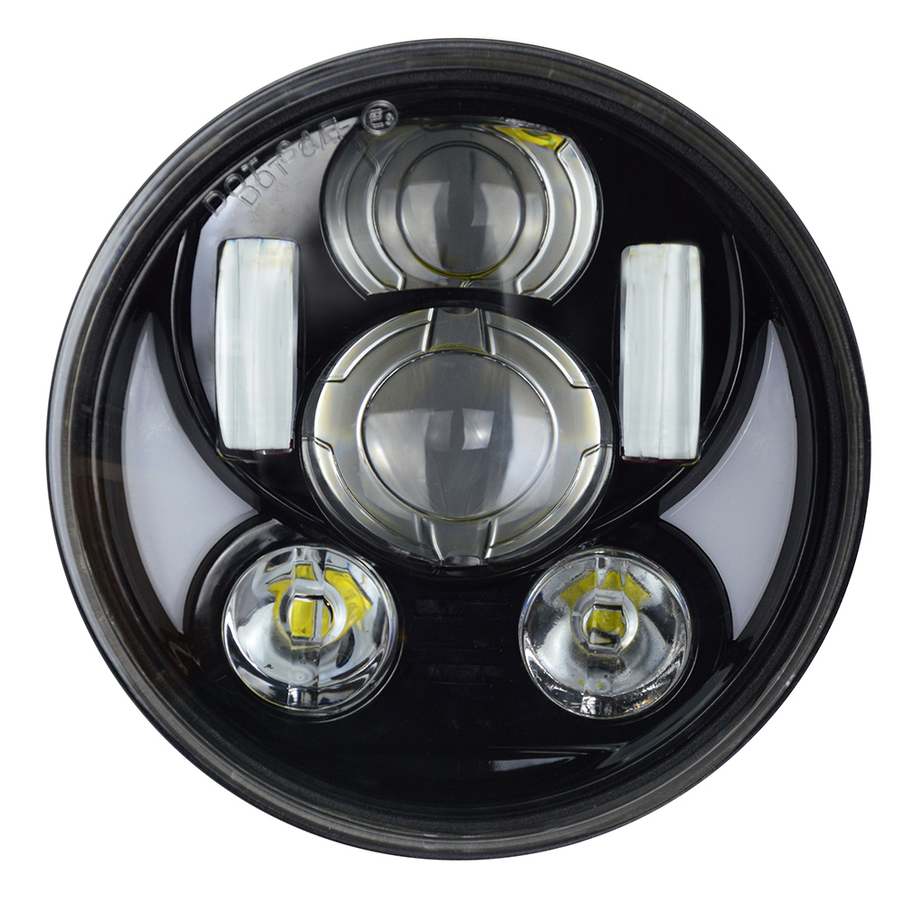 5.75 inch Sportster Headlight Motorcycle Headlight Dyna Headlamp 5 3/4 LED Light with white DRL for Harley Davidson 883