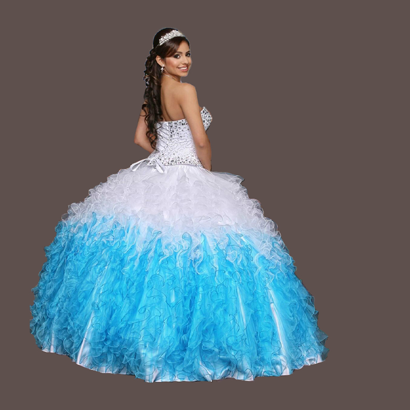 Coral Quinceanera Dresses Beaded Masquerade Ball Gown Sweet 16 ...