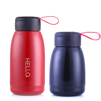 300ML 450ML Thermos Feeding Cup For Baby Drink Water Cute Small Bottle Stainless Steel Flask Vacuum