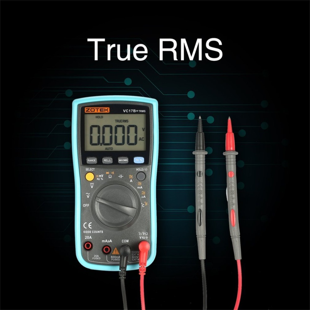VC17B+ Multimeter Multimetro Digital Voltmeter Tester Mastech Esr Clamp Meter Multimetre rm409b Analogico Aneng True Rms цена