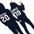 bts women men TOGETHER 20 SINCE 09  Letter Long Sleeve Hooded Hoodie Top Blouse Couple Shirt Casual Unisex Hoodies sportswear
