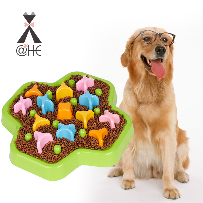 @ HE chien IQ traiter la nourriture bol chiens interactif formation jouets Puzzle éducatif Anti starter feederbols pour chiens chiot alimentation fournitures