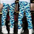 Venta caliente Del Otoño Del Resorte de camuflaje patrón de los niños vaqueros Niños Pantalones baby Boys Casual Pantalones de Moda Para Niños