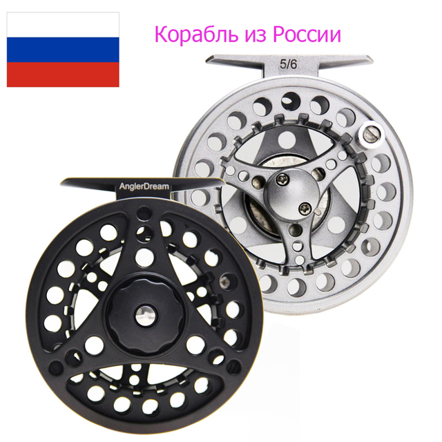 Special Offers Real Angler Dream Fly Fishing Reel Large Arbor Aluminum Fly Reel 3/4 5/6 7/8 WT Ice Fishing Reel