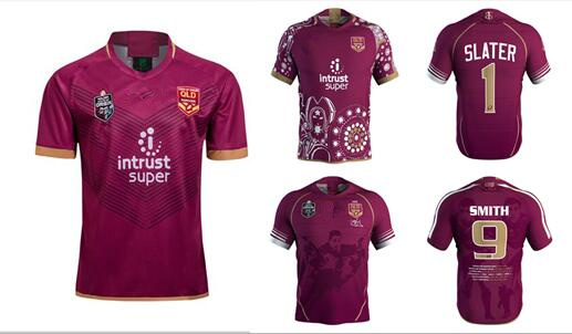 a5a5a1029d8 2018 2019 NRL high quality queensland maroons rugby jerseys clothing  European size S-3XL 2019 maroons jerseys Free Shipping