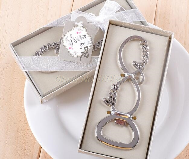 100PCS Love Forever Bottle Opener Wedding Favors And Gifts Wedding Gifts For Guests Wedding Souvenirs Party