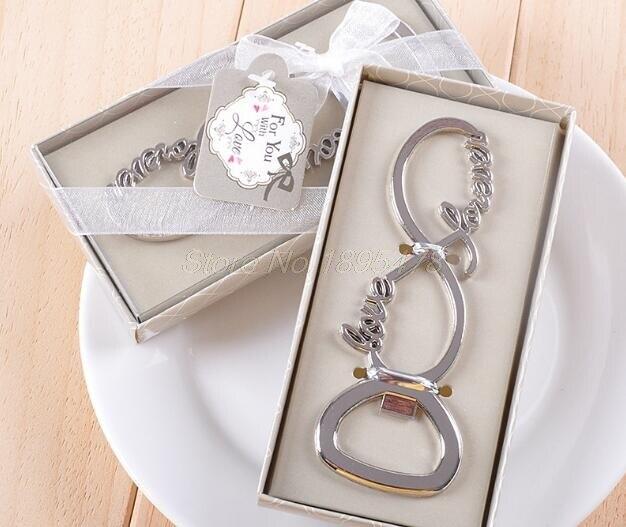 100 piezas amor para siempre abrebotellas recuerdos de boda y regalos de boda para invitados recuerdos de boda suministros de fiesta-in Obsequios para fiestas from Hogar y Mascotas    1