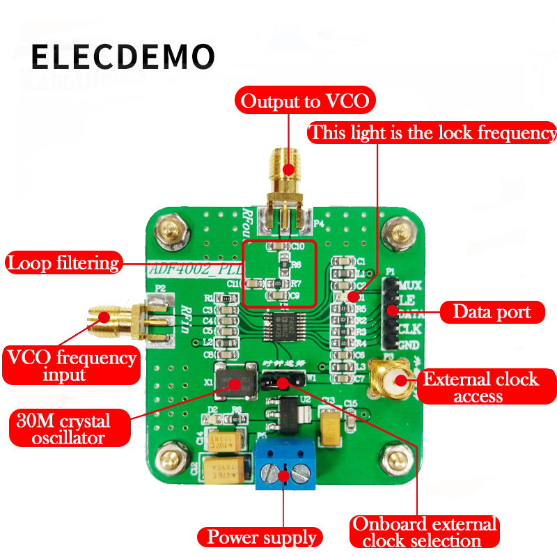 Image 2 - ADF4002 Module High Frequency Phase Detector Phase Locked Loop Module Send Drive Source Program Genuine Specials-in Demo Board Accessories from Computer & Office