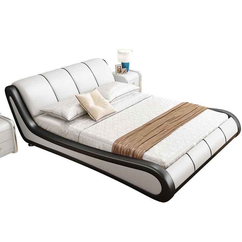 Single Room Meuble De Maison Modern Frame Ranza Yatak Odasi Mobilya Leather Mueble Cama Moderna bedroom Furniture Bed