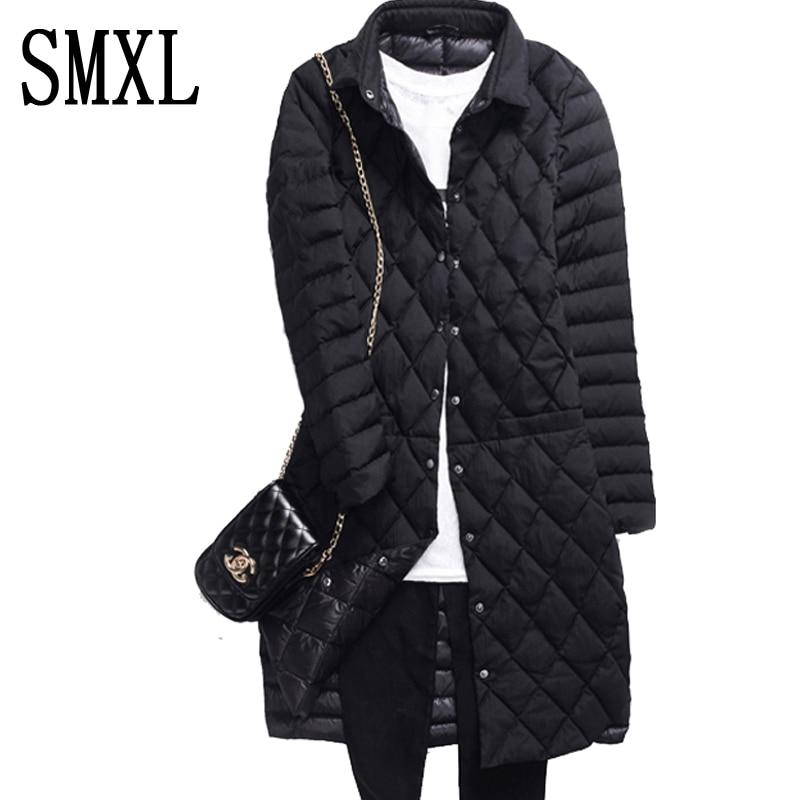 smxl Coat Ultra keep warm white Duck Down font b Jacket b font x Long Female