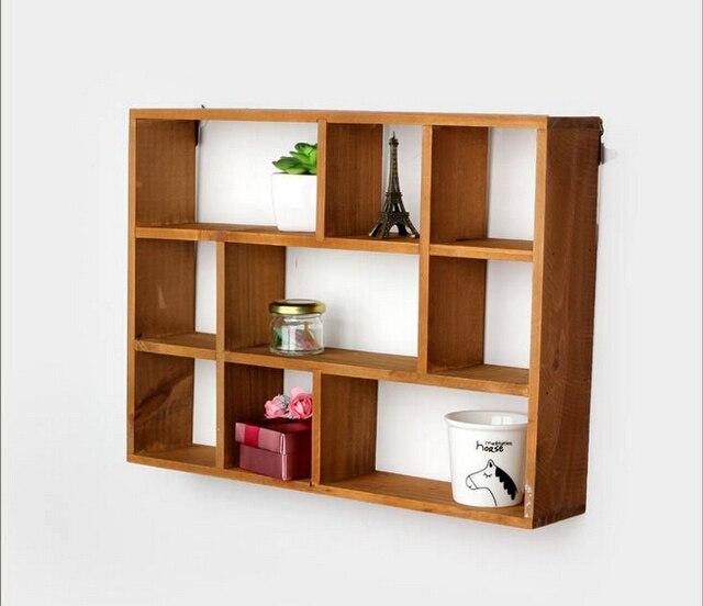holle houten wandplank opslag houders en rekken desktop planken