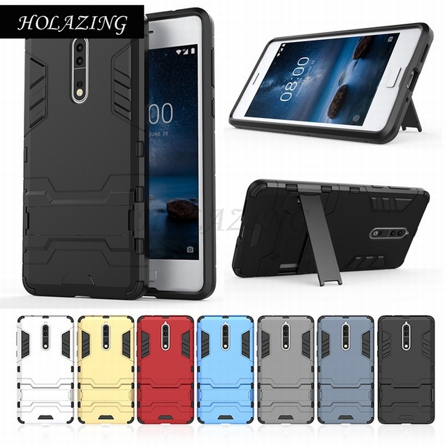 the best attitude 374fe 55fda US $7.45 24% OFF|HOLAZING 2 in1 PC Hard Full Body Protective Holder Cover  for Nokia 5 6 7 9 Anti Shock Case-in Half-wrapped Case from Cellphones & ...