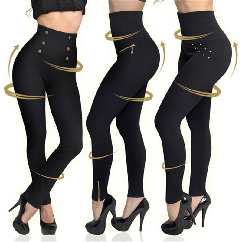 Women Leggings Pants Push-Up Elastic Hip-Fitness Slim High-Waist Female