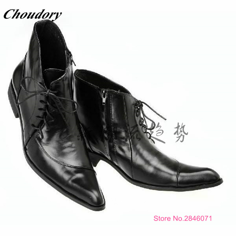 aliexpress buy fashion lace up black mens ankle