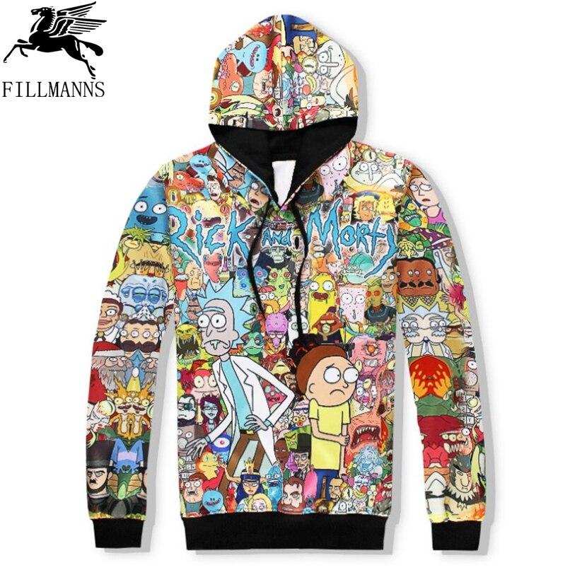 N Rick and Morty men hoodies sweatshirtss