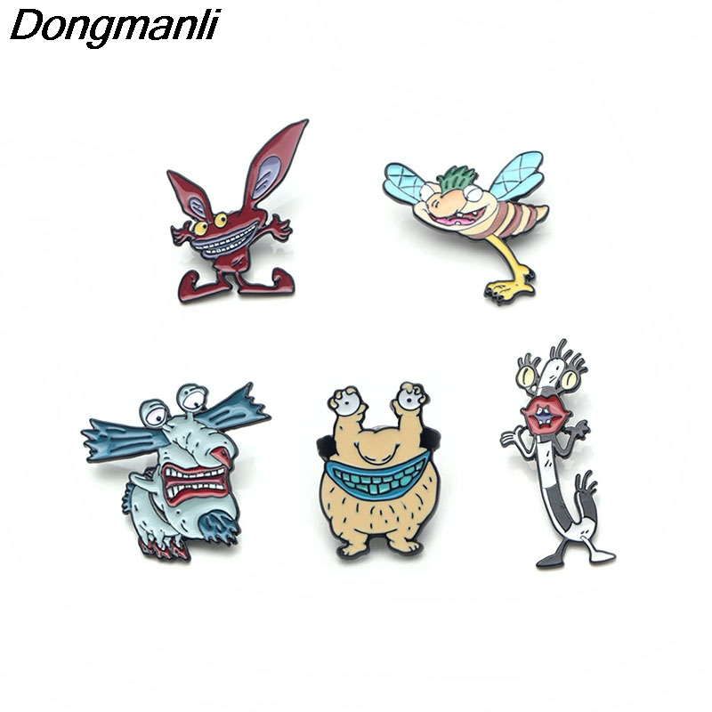 P3015 Dongmanli Aaahh!!! Real Monsters Metal Enamel Pins And Brooches For Women Men Lapel Pin Backpack Bags Badge Gifts