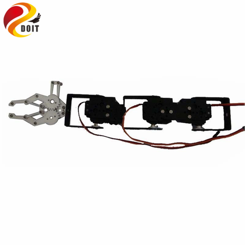 DOIT 4dof Robot Arm Vehicle-mounted Robotic Manipulator for Smart Car Tank Chassis+Mechanical Claw+4PCS High Torque
