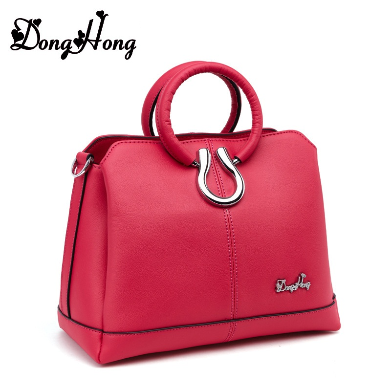 DongHong Fashion Women Ladies Real Genuine Leather Handbag Tote Shoulder Bags Messenger Purse Cross Body Satchel Bolsa Feminina hot brand new genuine leather women s messenger bags women handbag travel casual bag ladies shoulder cross body purse satchel