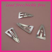 50 шт. 4,6 см серебряные волнистые края треугольный металлический защелкивающиеся зажимы для женская заколка для волос для боковых волос не содержит свинец и никель
