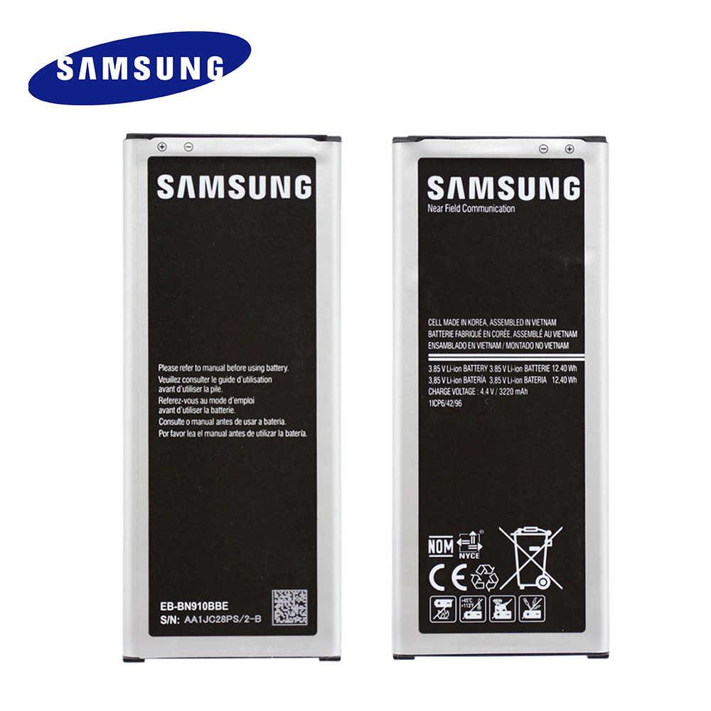 Bateria original EB-BN910BBE de samsung para galaxy note 4 nfc n910a n910u n910f n910h substituição batteria 3220mah EB-BN910BBU
