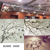 plastic branches real touch fake Tree branches Rattan Kudo Artificial Flower Vine Home Hotel Wedding DIY party Decoration Wreath